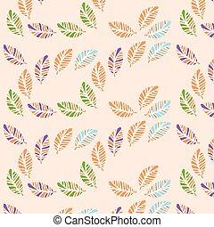 Leaves vintage pattern, vector illustration.