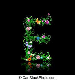 letter of romantic flowers