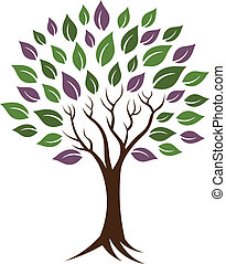 Life tree image. Concept of happiness, young and healthy. Vector icon