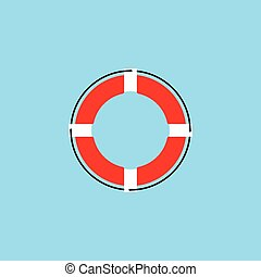 Lifebuoy logo icon vector ilustration