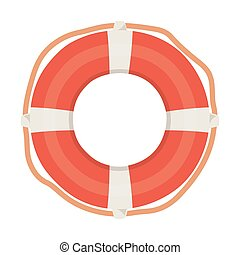 lifebuoy nautical maritime isolated design icon white background
