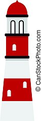 Lighthouse icon isolated