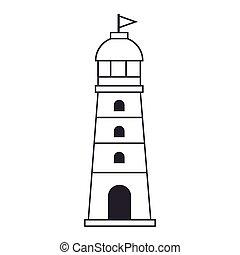 lighthouse maritime frame icon
