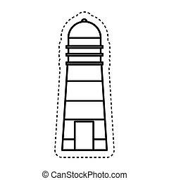 lighthouse maritime isolated icon