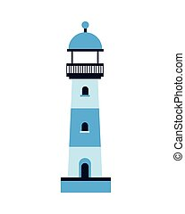 lighthouse sea building isolated icon