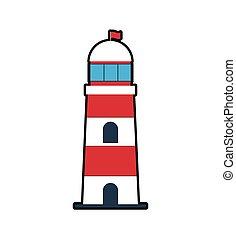 lighthouse sea lifestyle nautical icon
