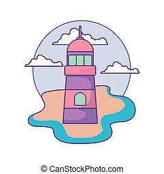 lighthouse sea maritime in the beach