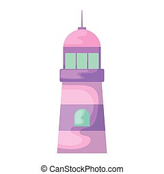 lighthouse sea maritime isolated icon