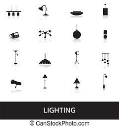 lighting icons eps10