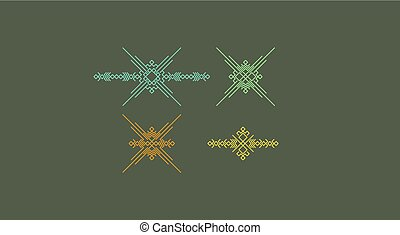 Line art design for invitation, poster, badge, monogram. Elegant luxury design template. Vector illustration.