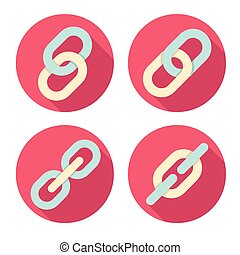 Links icons symbols set