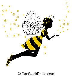 Little Bee Fairy Girl