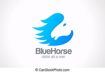 Logo Horse silhouette abstract vector Creative design concept