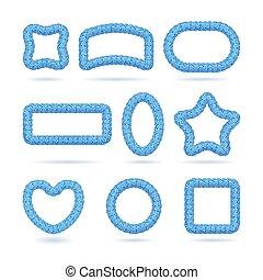 Lollipop blue frame set