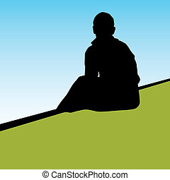An image of a lonely person.