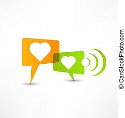 love. Concept speech bubbles