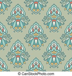 Luxury Damask vintage seamless pattern