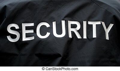 macro of a jacket of a security guard