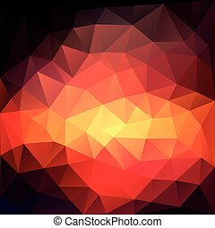 Magic triangle background with highlights. Vector illustration.