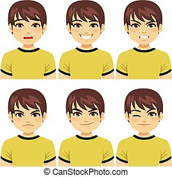 Man Face Expressions