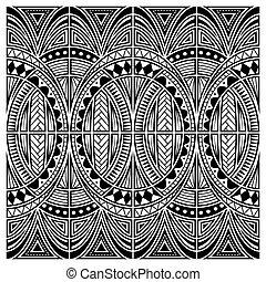 Maori style tattoo ornament vector