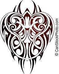 Maori style tattoo