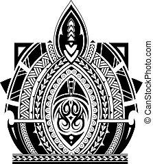 Maori style tattoo sleeve