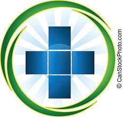 Medical symbol icon logo vector
