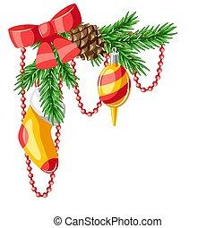 Merry Christmas decorative element.