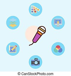 Microphone vector icon sign symbol