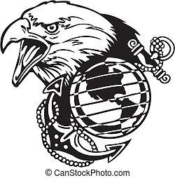 Military Design - vinyl-ready vector illustration.