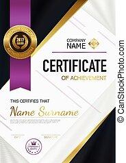 Modern Certificate Of Achievement Template