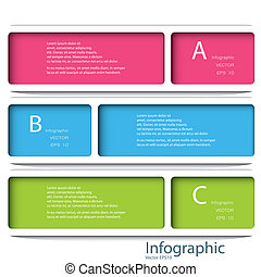 Modern Design template / can be used for infographics / numbered banners / horizontal cutout lines / graphic or website layout vector in EPS 10 format.