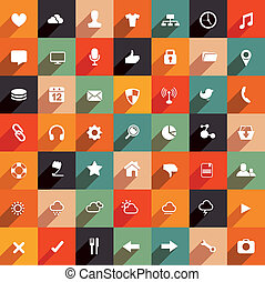 Modern flat icon collection. vector set.