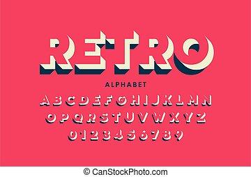 Modern font design in retro style