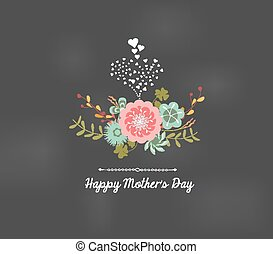 mothers day florals greeting card