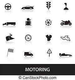 motoring icons eps10