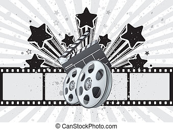 vector background for movie theme