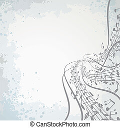 Abstract musical vector theme