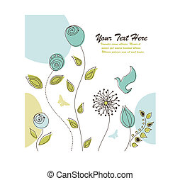 Nature Background with Flowers and Space for Your Text