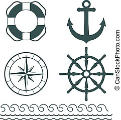 Nautical decoration vector