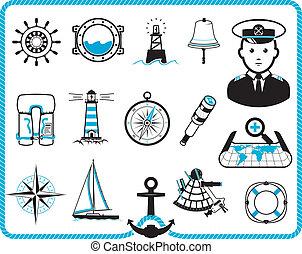 Nautical frame and icons