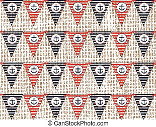 Nautical or marine flags pattern