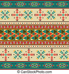 Seamless tile with navaho pattern