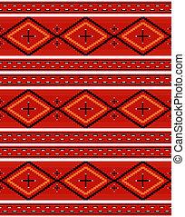 Seamless Navajo textile red pattern