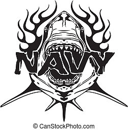 NAVY Military Design - vinyl-ready vector illustration.