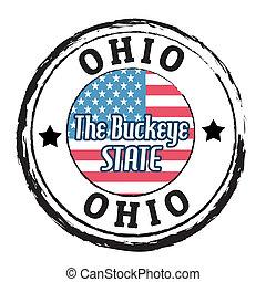 Ohio, The Buckeye State stamp