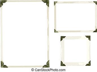 Old Photo Corners Vector