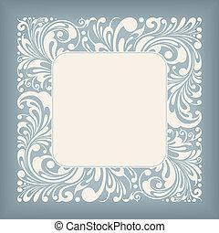 Square Frame Floral Ornament Series, editable vector illustration - EPS8