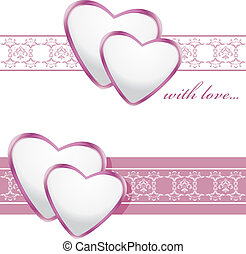 Ornamental borders with hearts